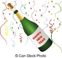 New Year clipart champange Low champagne Happy of year