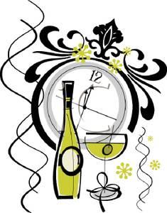 New Year clipart champange Year Eve Eve New New