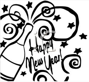 New Year clipart champange White Champagne Image and Year
