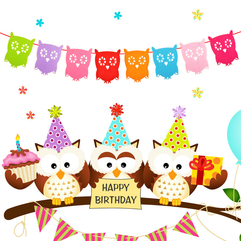 New Year clipart class party Owl Kids Birthday Party Garlands