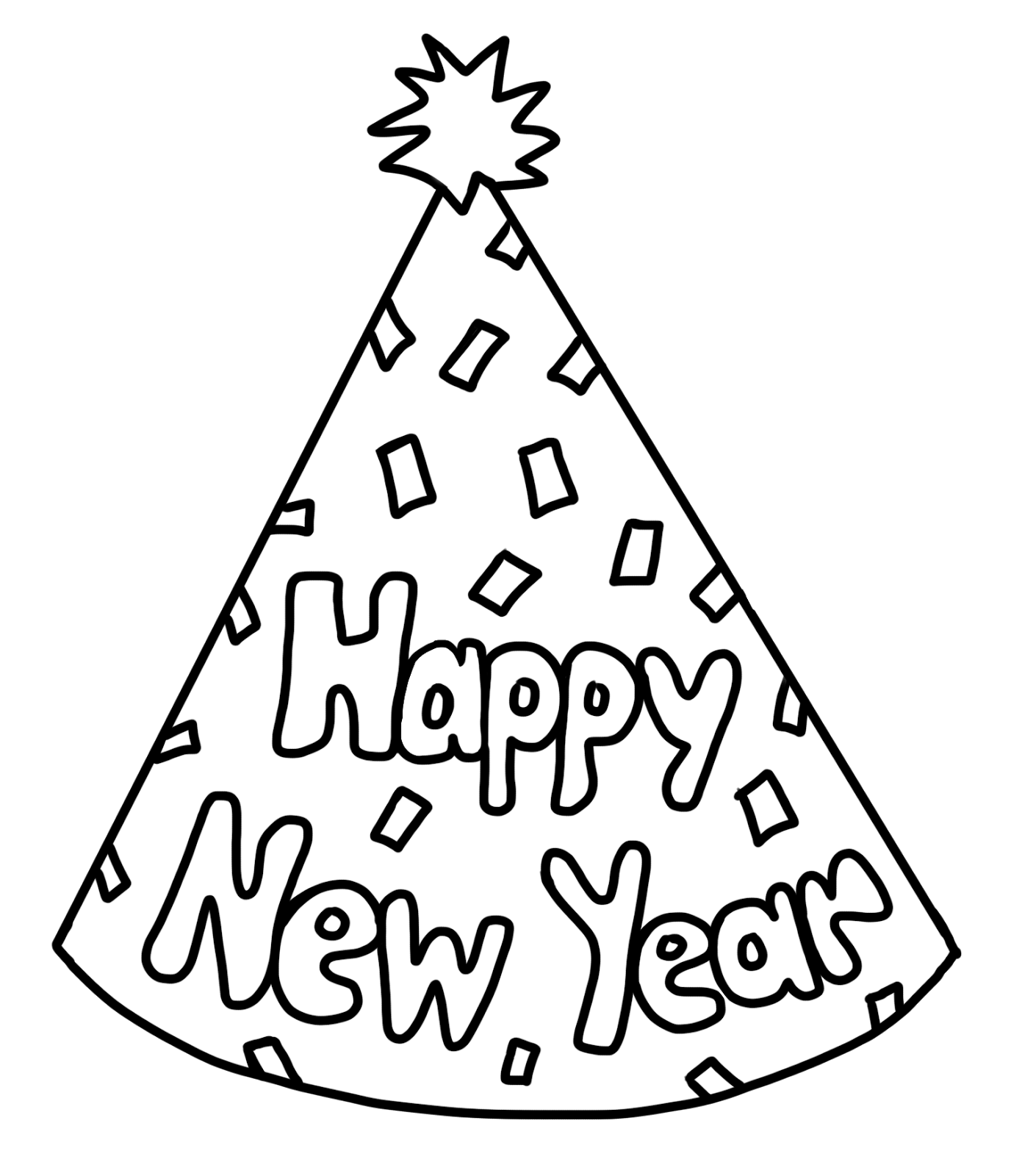 New Year clipart coloring sheet  Coloring New Pages goose