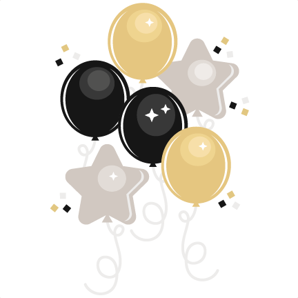 New Year clipart cute For balloon cut files for