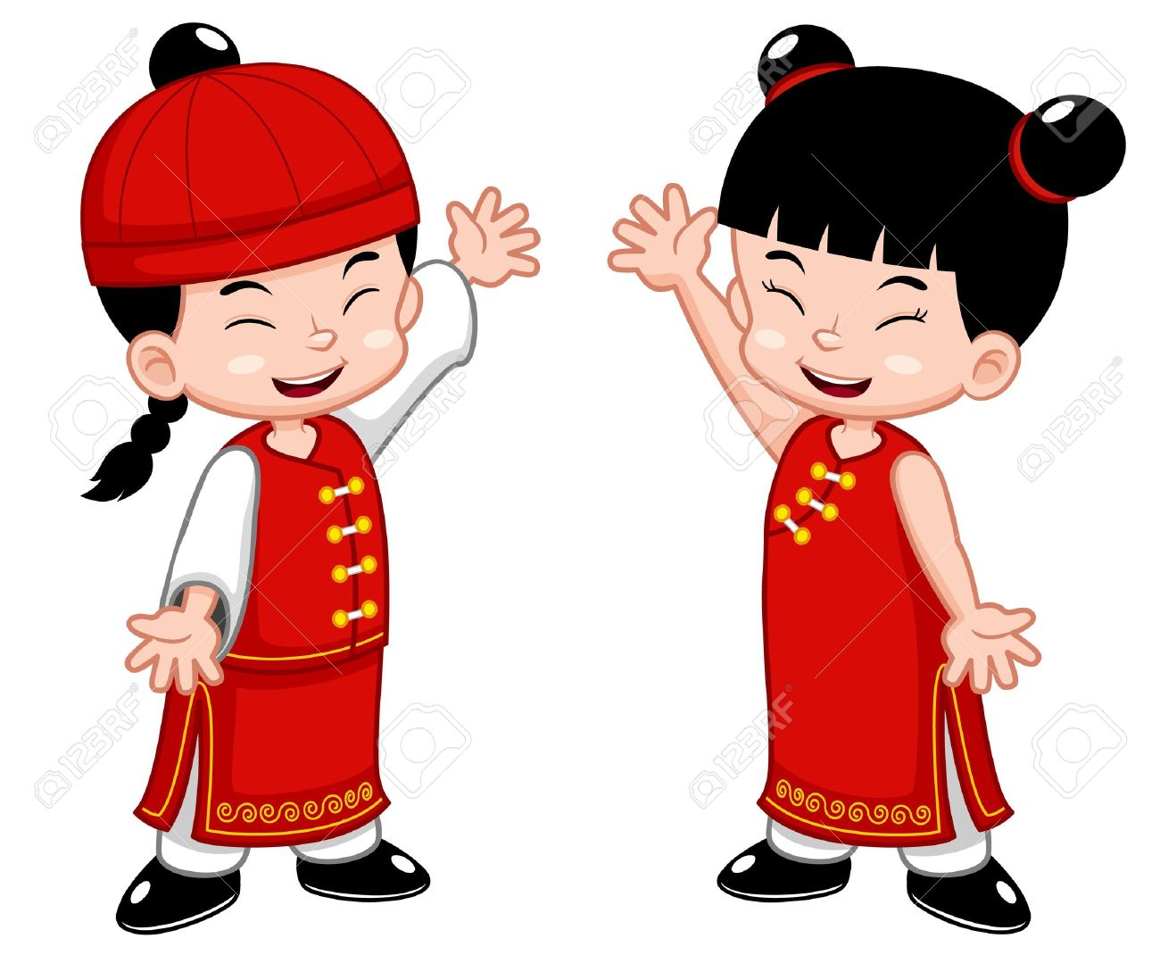 New Year clipart cute New Fans chinese year art