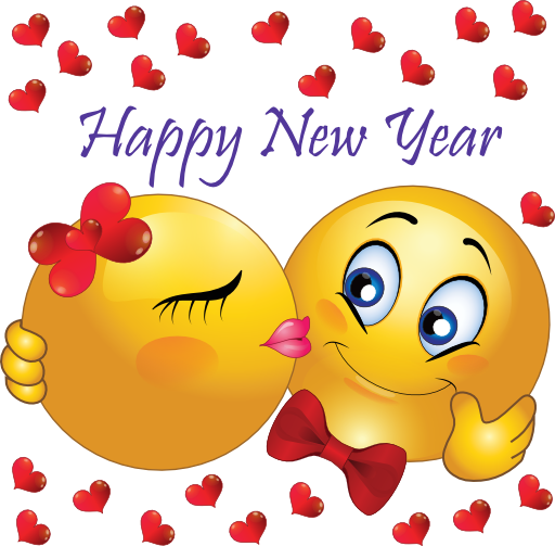 New Year clipart emoji Year's More Year Kiss Happy