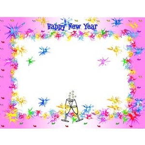New Year clipart frame (2) Frames printable digital scrapbook