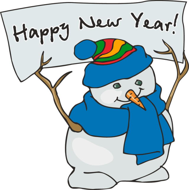 Snowman clipart january Happy Clipart year new year