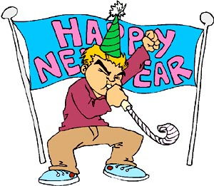 New Year clipart funny A blowing New Funny and