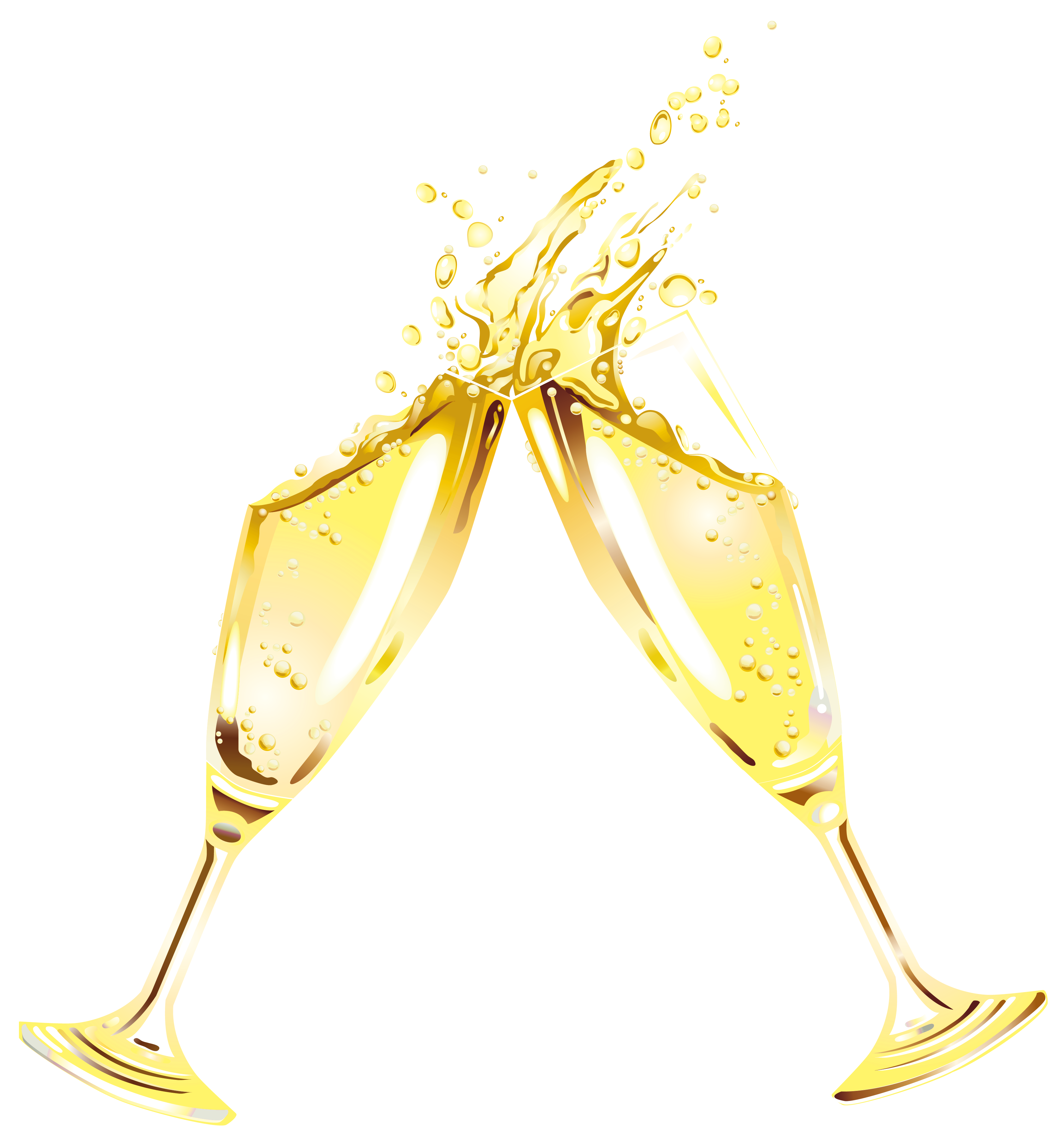 Champagne clipart gold Full Year size Clipart New