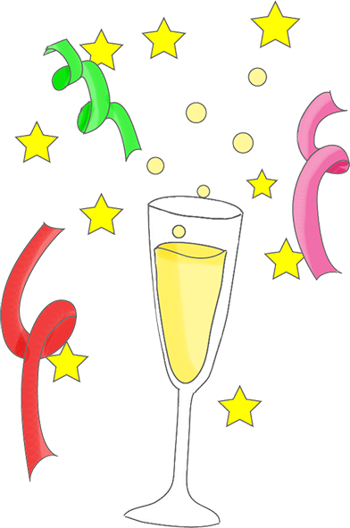 Champagne clipart happy new year Years Years graphics New Years