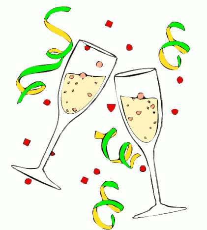 Champagne clipart party Tour New Rebecca Happy Year!