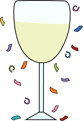 Party clipart champagne glass #6