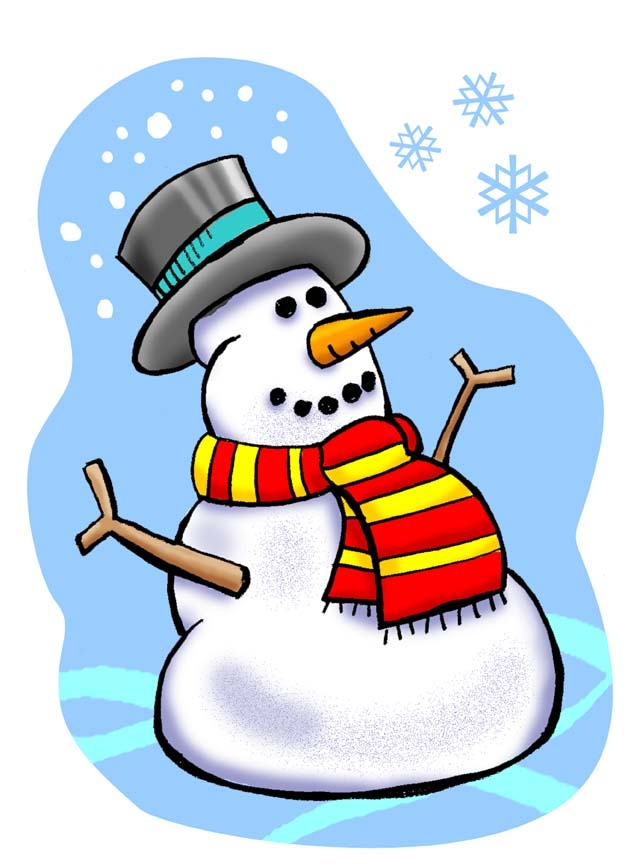 Snowman clipart january Year happy year new clipart