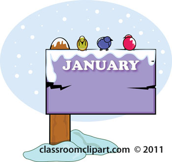 New Year clipart month january Sign January Calendar 172012 Clipart