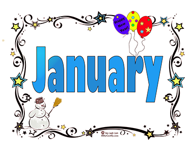 New Year clipart month january With image Click January Page