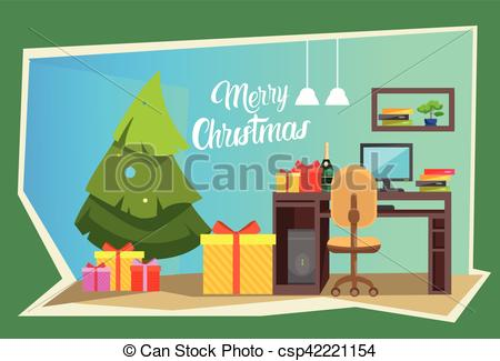 New Year clipart office celebration Year Office  New Decorated