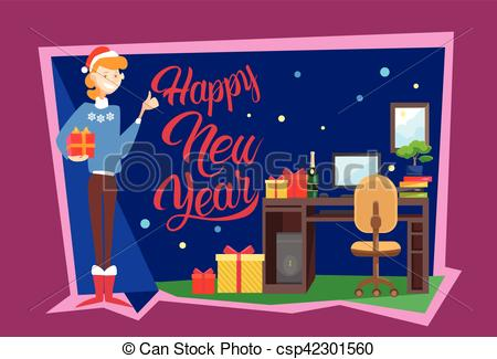 New Year clipart office celebration Happy of Hold Merry And