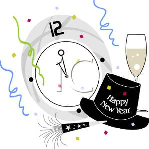 Party clipart new year's eve Clock Years Image A Years