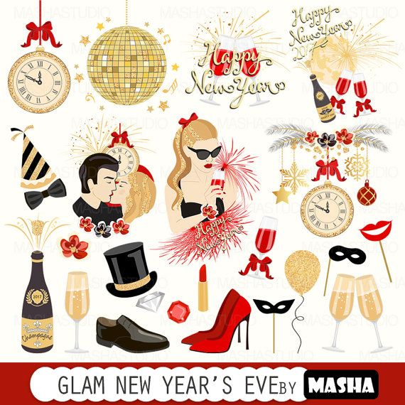 New Year clipart party supply Files clip Year's ART New