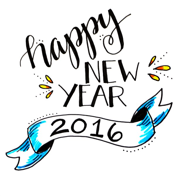 New Year clipart pencil Step Project: Free Year Lettering