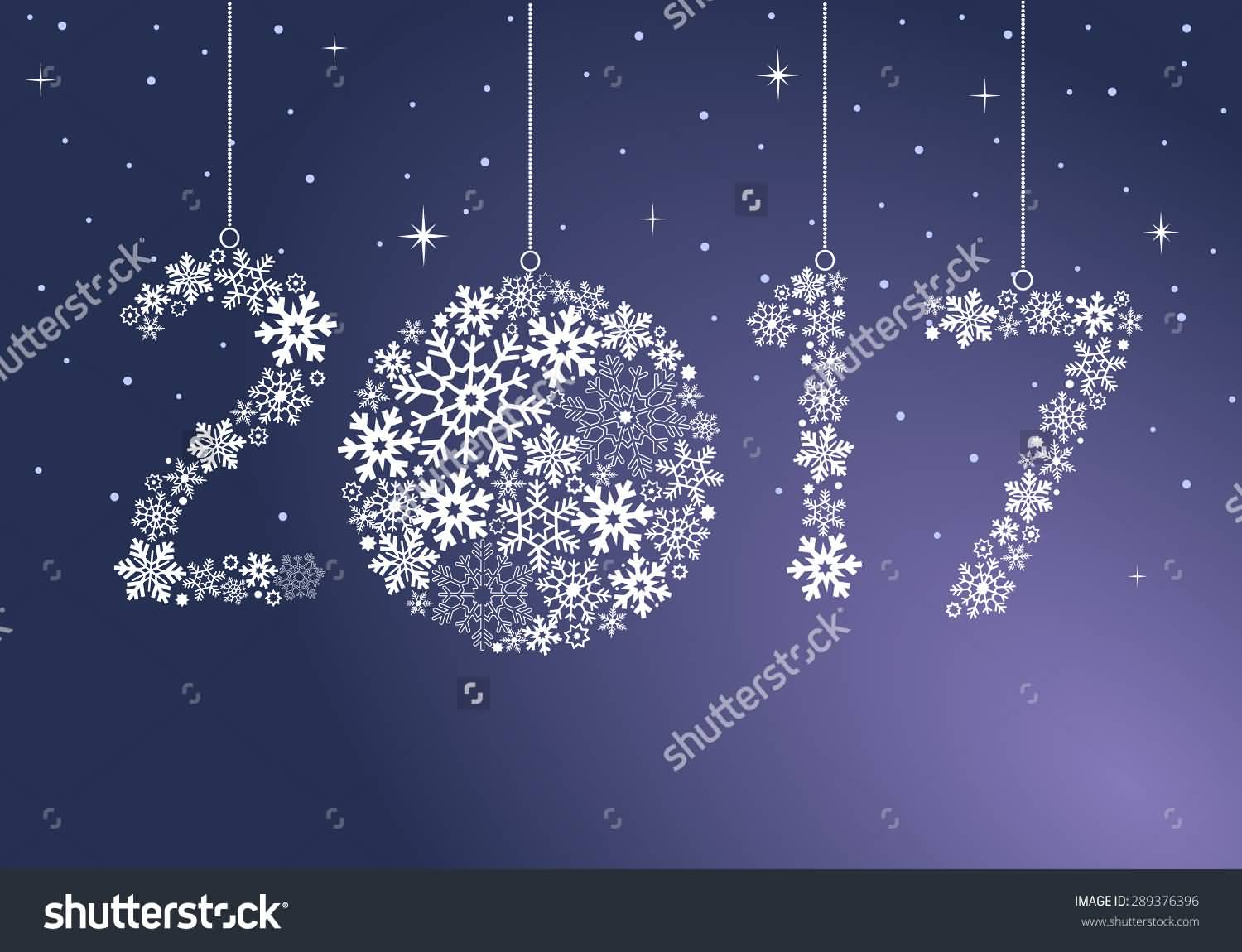 New Year clipart purple Clipart Snowflakes 2017 Beautiful Pictures