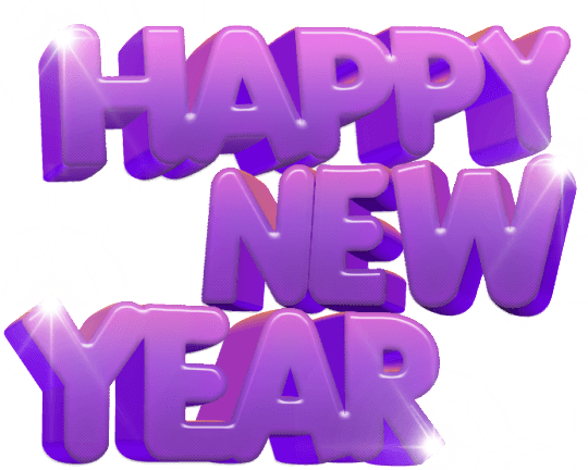 New Year clipart purple New happy · New StickPNG