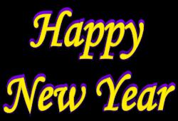 New Year clipart purple Shadow Year New art Year