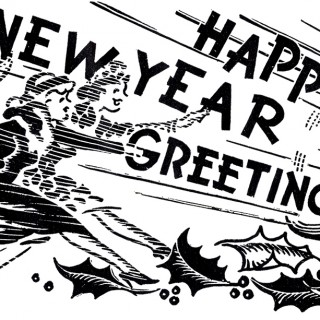 New Year clipart retro Year Greeting! New Graphics Clip