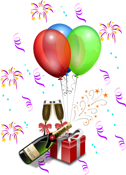 Party clipart new year's eve Eve · vector PNG: Art