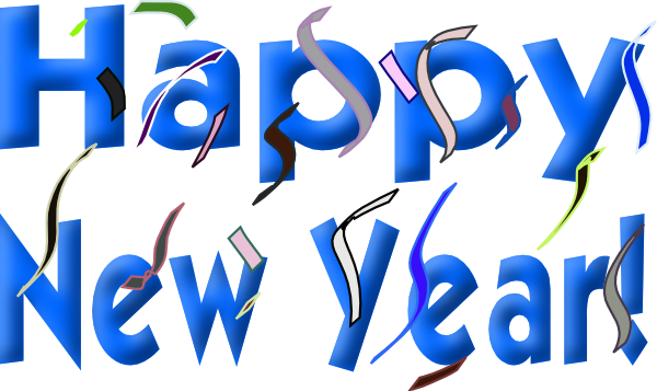 Small clipart happy new year Clip · New large Clker