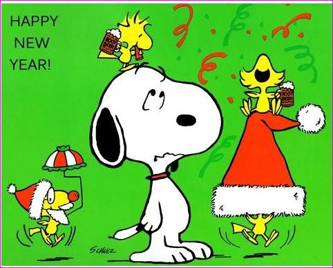 Snoopy clipart new year 134 Other images on Pin