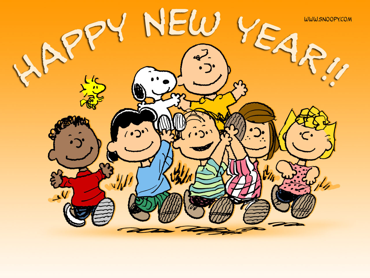 New Year clipart snoopy ╰☆╮ Brown!