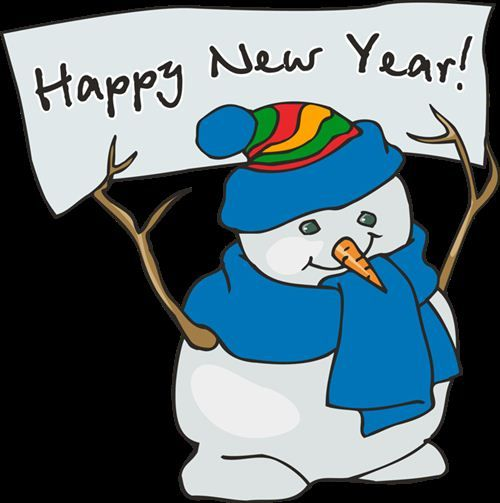 Snowman clipart new year Years Happy New Year designsnext