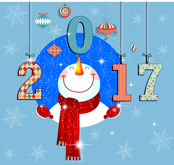 Snowman clipart new year (85 vector) new year illustration