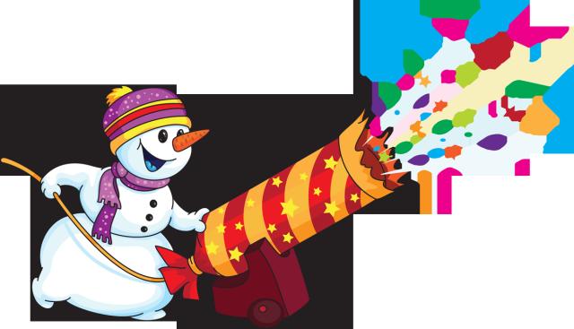 Snowman clipart new year Year Celebration Celebration Year Art