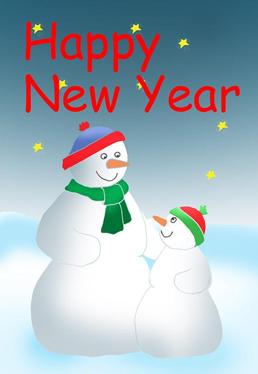 Snowman clipart new year New Year Send snowchild Happy