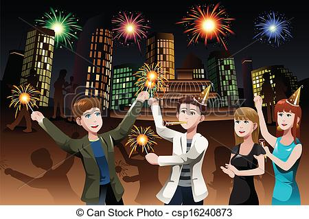 New Year clipart sparkler People Young New New