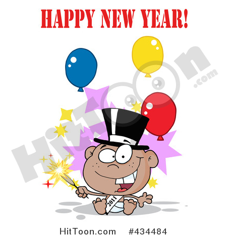 New Year clipart sparkler Holding Year #434484: Year