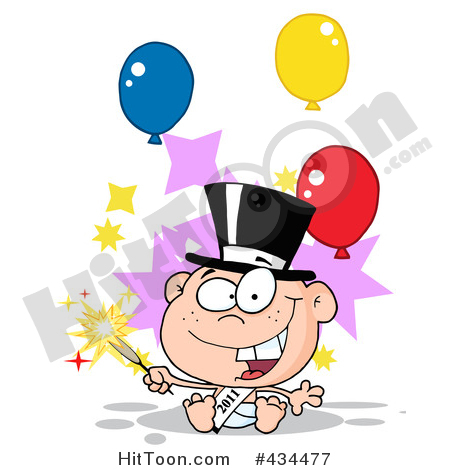 New Year clipart sparkler Of New Royalty (RF)