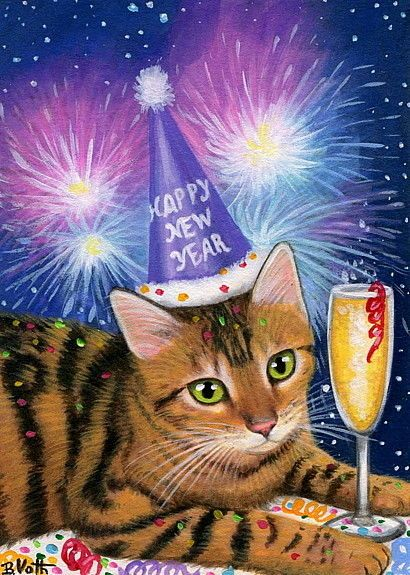 New Year clipart sparkler Kitten Year! HAPPY cat Year's