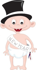 New Year clipart top hat Top New New banner baby