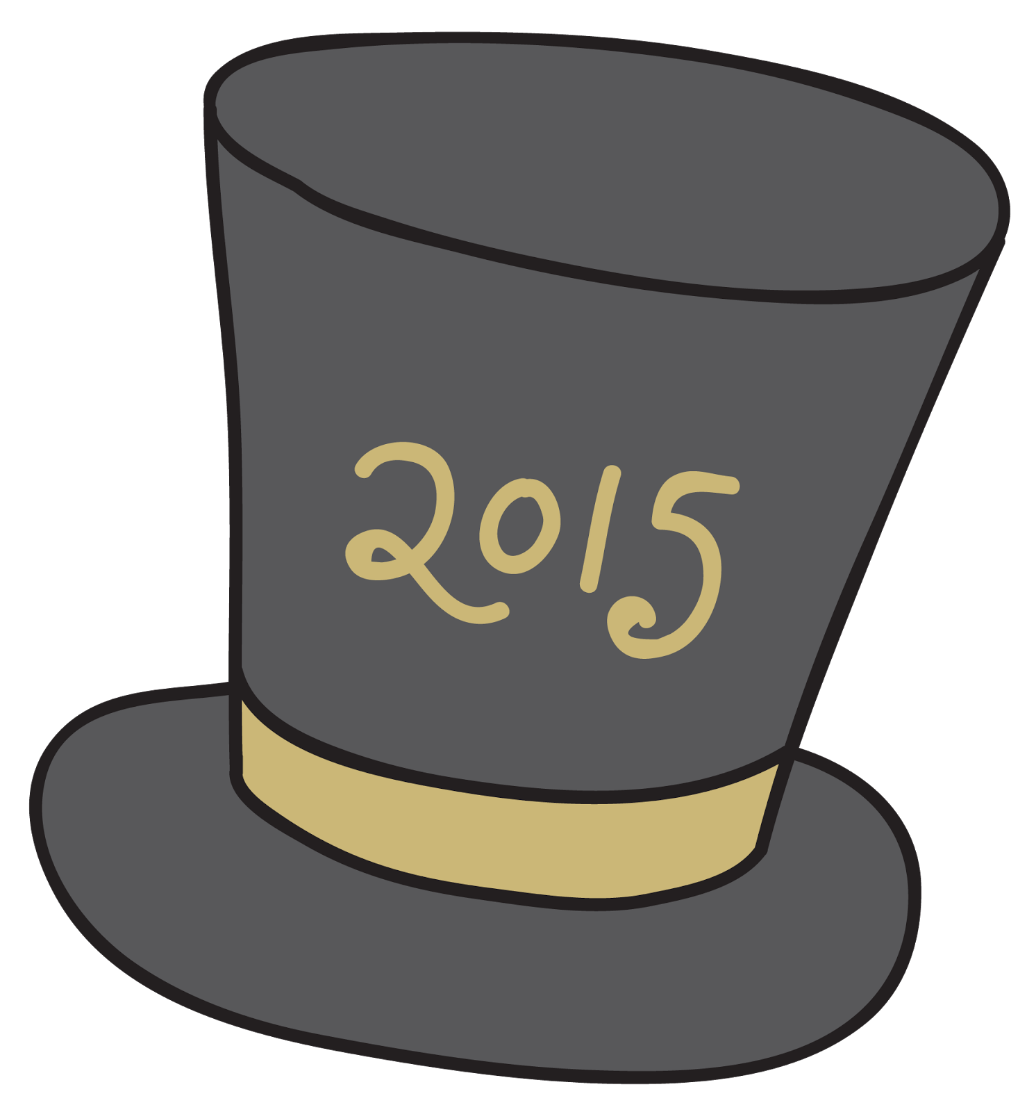 New Year clipart top hat The clicking Happy  New