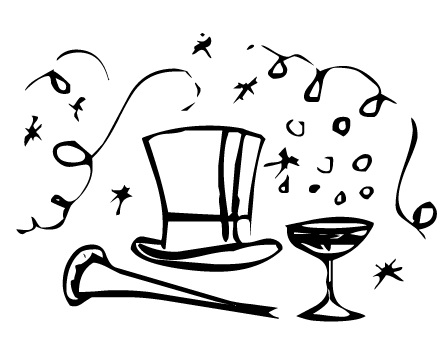 New Year clipart top hat Of Art Download – Art