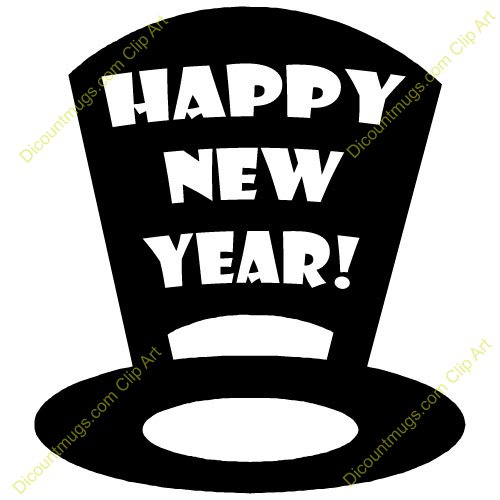 New Year clipart top hat New art (8+) year Top
