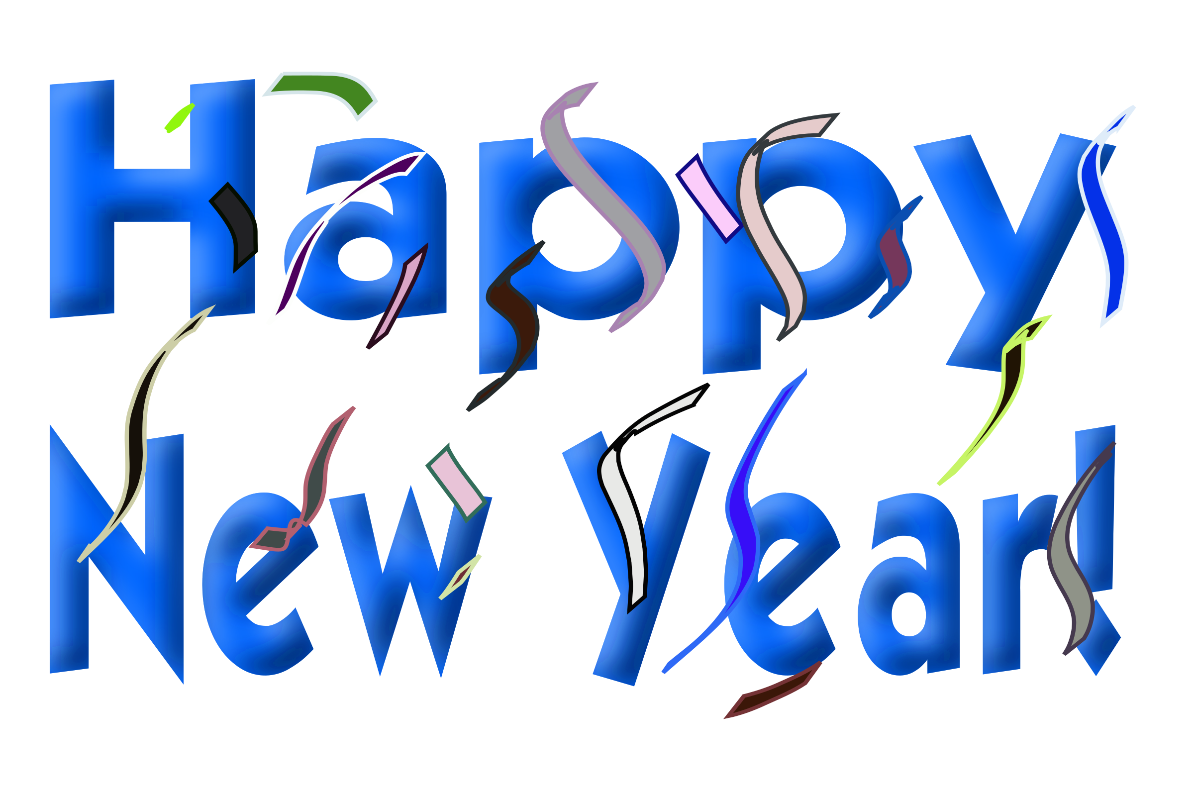 New Year clipart transparent New Clip Happy com Year