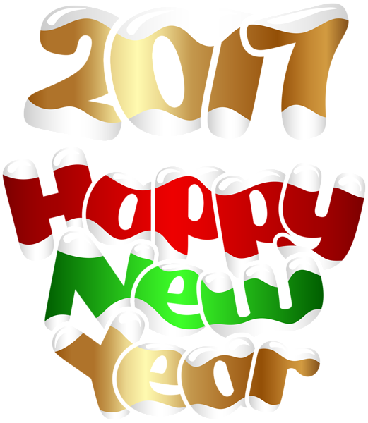 New Year clipart transparent PNG Happy Happy Art PNG