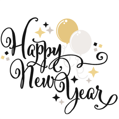 New Year clipart transparent Happy Balloons Years Balloons transparent