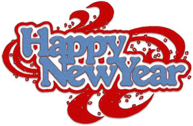 New Year clipart transparent And white New New Year