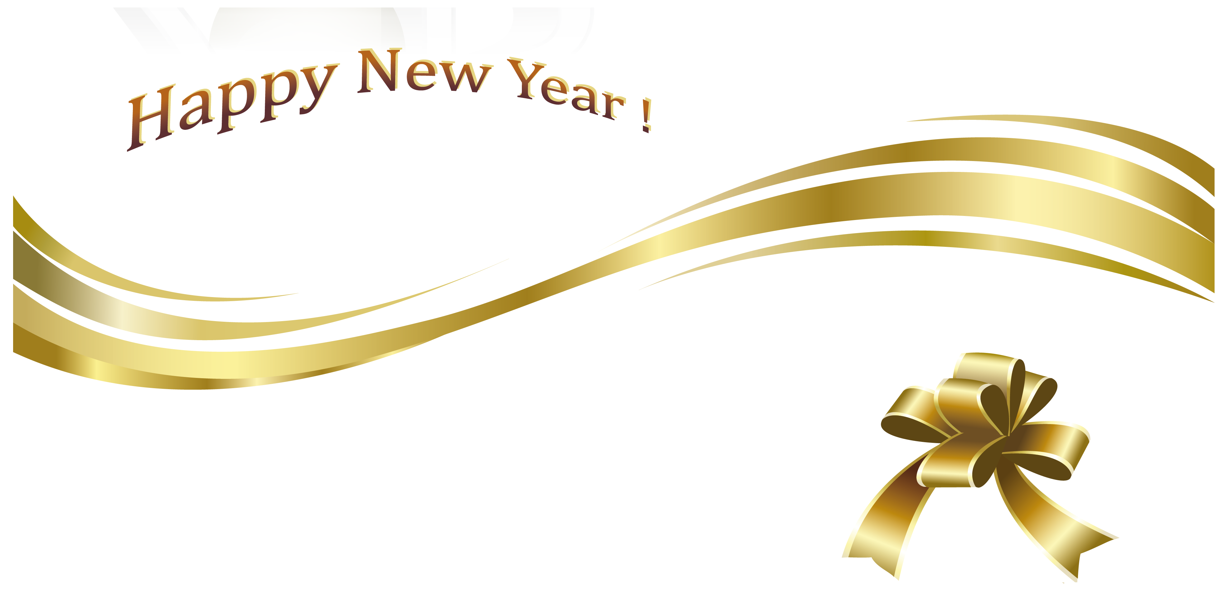New Year clipart transparent Year Gold Christmas  Gallery