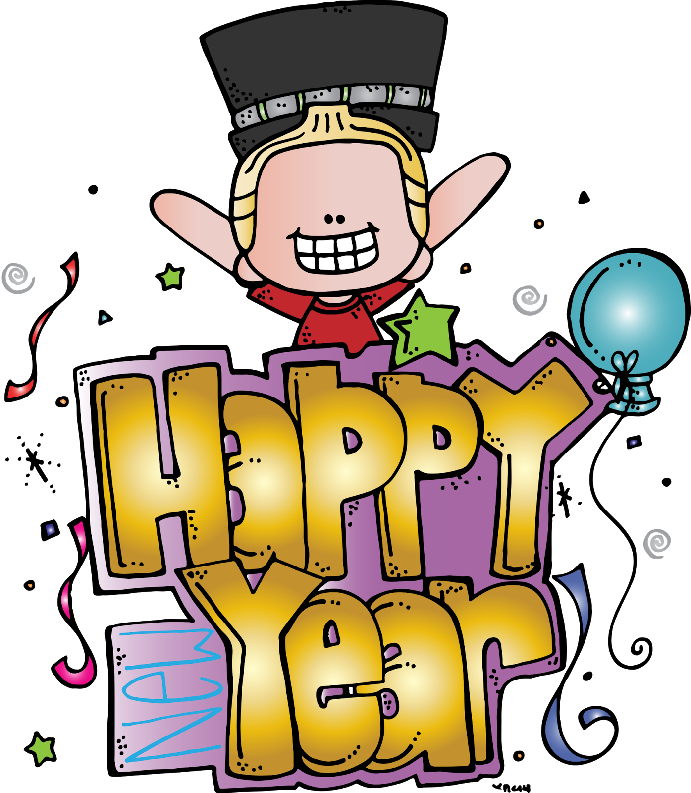 New Year clipart whistle New Freebie! MelonHeadz: Happy New
