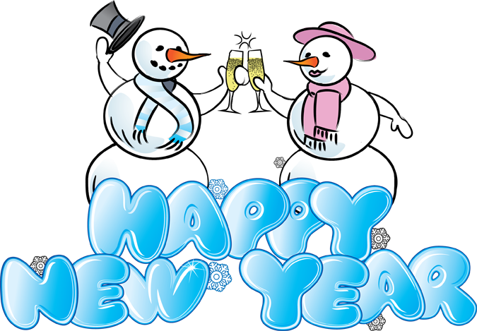 Snowman clipart new year New year Happy Free Year